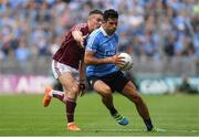 11 August 2018; Cian O'Sullivan of Dublin in action against Eamonn Brannigan of Galway during the GAA Football All-Ireland Senior Championship semi-final match between Dublin and Galway at Croke Park in Dublin.  Photo by Piaras Ó Mídheach/Sportsfile