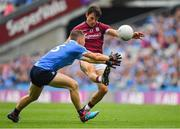 11 August 2018; Seán Armstrong of Galway shoots despite the efforts of Con O'Callaghan of Dublin during the GAA Football All-Ireland Senior Championship semi-final match between Dublin and Galway at Croke Park in Dublin. Photo by Brendan Moran/Sportsfile