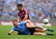 11 August 2018; Ciarán Kilkenny of Dublin is tackled by Eoghan Kerin of Galway during the GAA Football All-Ireland Senior Championship semi-final match between Dublin and Galway at Croke Park in Dublin. Photo by Brendan Moran/Sportsfile