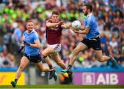 11 August 2018; Johnny Heaney of Galway in action against Ciarán Kilkenny, left, and Jack McCaffrey of Dublin during the GAA Football All-Ireland Senior Championship semi-final match between Dublin and Galway at Croke Park in Dublin. Photo by Stephen McCarthy/Sportsfile