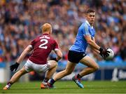 11 August 2018; Con O'Callaghan of Dublin in action against Declan Kyne of Galway during the GAA Football All-Ireland Senior Championship semi-final match between Dublin and Galway at Croke Park in Dublin.  Photo by Seb Daly/Sportsfile