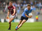 11 August 2018; Jack McCaffrey of Dublin gets past Johnny Heaney of Galway during the GAA Football All-Ireland Senior Championship semi-final match between Dublin and Galway at Croke Park in Dublin.  Photo by Piaras Ó Mídheach/Sportsfile