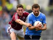 11 August 2018; Jack McCaffrey of Dublin in action against Johnny Heaney of Galway during the GAA Football All-Ireland Senior Championship semi-final match between Dublin and Galway at Croke Park in Dublin.  Photo by Seb Daly/Sportsfile