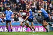11 August 2018; Eoghan Kerin of Galway in action against Con O'Callaghan and James McCarthy, right, of Dublin during the GAA Football All-Ireland Senior Championship semi-final match between Dublin and Galway at Croke Park in Dublin. Photo by Piaras Ó Mídheach/Sportsfile
