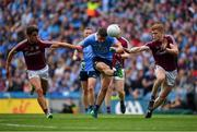 11 August 2018; Brian Howard of Dublin in action against Micheal Daly, left, and Ciarán Duggan of Galway during the GAA Football All-Ireland Senior Championship semi-final match between Dublin and Galway at Croke Park in Dublin. Photo by Brendan Moran/Sportsfile