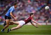 11 August 2018; Ian Burke of Galway in action against Michael Fitzsimons of Dublin during the GAA Football All-Ireland Senior Championship semi-final match between Dublin and Galway at Croke Park in Dublin. Photo by Stephen McCarthy/Sportsfile