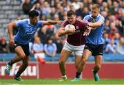 11 August 2018; Damien Comer of Galway in action against Cian O'Sullivan, left, and Jonny Cooper of Dublin during the GAA Football All-Ireland Senior Championship semi-final match between Dublin and Galway at Croke Park in Dublin.  Photo by Piaras Ó Mídheach/Sportsfile