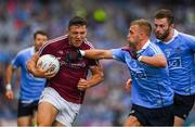 11 August 2018; Damien Comer of Galway is tackled by Jonny Cooper of Dublin during the GAA Football All-Ireland Senior Championship semi-final match between Dublin and Galway at Croke Park in Dublin. Photo by Ray McManus/Sportsfile
