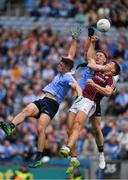 11 August 2018; Damien Comer of Galway  in action against Brian Howard, left, and Philly McMahon of Dublin  during the GAA Football All-Ireland Senior Championship semi-final match between Dublin and Galway at Croke Park in Dublin.  Photo by Ray McManus/Sportsfile
