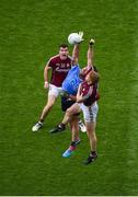 11 August 2018; Michael Darragh MacAuley of Dublin in action against Ciarán Duggan of Galway during the GAA Football All-Ireland Senior Championship semi-final match between Dublin and Galway at Croke Park in Dublin. Photo by Daire Brennan/Sportsfile