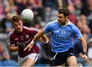 11 August 2018; Kevin McManamon of Dublin in action against Eoghan Kerin of Galway during the GAA Football All-Ireland Senior Championship semi-final match between Dublin and Galway at Croke Park in Dublin.  Photo by Seb Daly/Sportsfile