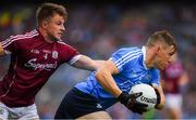 11 August 2018; Con O'Callaghan of Dublin is tackled by Eoghan Kerin of Galway n action against / during the GAA Football All-Ireland Senior Championship semi-final match between Dublin and Galway at Croke Park in Dublin.  Photo by Ray McManus/Sportsfile