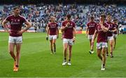11 August 2018; Galway players, from left, Thomas Flynn, Kieran Molloy, Johnny Duane and Eoghan Kerin leave the pitch after the GAA Football All-Ireland Senior Championship semi-final match between Dublin and Galway at Croke Park in Dublin.  Photo by Brendan Moran/Sportsfile