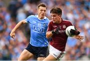 11 August 2018; Seán Kelly of Galway in action against Paul Flynn of Dublin during the GAA Football All-Ireland Senior Championship semi-final match between Dublin and Galway at Croke Park in Dublin. Photo by Stephen McCarthy/Sportsfile