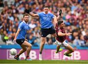 11 August 2018; Damien Comer of Galway in action against Philly McMahon and Jack McCaffrey, left, of Dublin during the GAA Football All-Ireland Senior Championship semi-final match between Dublin and Galway at Croke Park in Dublin. Photo by Stephen McCarthy/Sportsfile