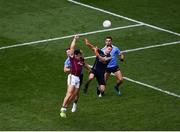 11 August 2018; Damien Comer of Galway scores his side's first goal during the GAA Football All-Ireland Senior Championship semi-final match between Dublin and Galway at Croke Park in Dublin. Photo by Daire Brennan/Sportsfile