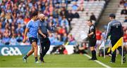 11 August 2018; Cian O'Sullivan of Dublin leaves the field after picking up an injury during the GAA Football All-Ireland Senior Championship semi-final match between Dublin and Galway at Croke Park in Dublin. Photo by Stephen McCarthy/Sportsfile