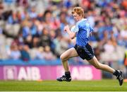 11 August 2018; James Tully, Clifferna NS, Stradone, Cavan, representing Dublin, during the INTO Cumann na mBunscol GAA Respect Exhibition Go Games at the GAA Football All-Ireland Senior Championship Semi Final match between Dublin and Galway at Croke Park in Dublin. Photo by Stephen McCarthy/Sportsfile