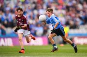 11 August 2018; Mattie McDermott, St Paul's PS, Irvinestown, Fermanagh, representing Dublin, during the INTO Cumann na mBunscol GAA Respect Exhibition Go Games at the GAA Football All-Ireland Senior Championship Semi Final match between Dublin and Galway at Croke Park in Dublin. Photo by Stephen McCarthy/Sportsfile
