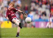 11 August 2018; James Carney, Highpark NS, Dromard, Sligo, representing Galway, during the INTO Cumann na mBunscol GAA Respect Exhibition Go Games at the GAA Football All-Ireland Senior Championship Semi Final match between Dublin and Galway at Croke Park in Dublin. Photo by Stephen McCarthy/Sportsfile