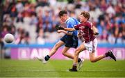 11 August 2018; Conor Yelland, St. Anthony's BNS, Ballinlough, Cork, representing Dublin, and Dylan Coady, St Mary's NS, Ballygunner, Waterford, representing Galway, during the INTO Cumann na mBunscol GAA Respect Exhibition Go Games at the GAA Football All-Ireland Senior Championship Semi Final match between Dublin and Galway at Croke Park in Dublin. Photo by Stephen McCarthy/Sportsfile