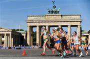 12 August 2018; Lizzie Lee of Ireland, left, passes the Brandenburg Gate while competing in the Women's Marathon event during Day 6 of the 2018 European Athletics Championships in Berlin, Germany. Photo by Sam Barnes/Sportsfile