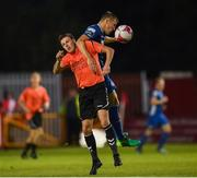 10 August 2018; Jamie Lennon of St Patrick's Athletic and Daniel Geraghty of Inchicore Athletic during the Irish Daily Mail FAI Cup First Round match between Inchicore Athletic and St Patrick's Athletic at Richmond Park in Inchicore, Dublin. Photo by Stephen McCarthy/Sportsfile