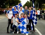 12 August 2018; Monaghan supporters prior to the GAA Football All-Ireland Senior Championship semi-final match between Monaghan and Tyrone at Croke Park in Dublin. Photo by Stephen McCarthy/Sportsfile