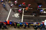 12 August 2018; A general view of competitors in the Men's Road Race during day eleven of the 2018 European Championships in Glasgow, Scotland. Photo by David Fitzgerald/Sportsfile