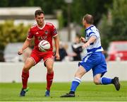 12 August 2018; Conor McCarthy of Cork City in action against Christy Doran of Home Farm during the Irish Daily Mail FAI Cup First Round match between Home Farm and Cork City at Whitehall Stadium, in Dublin. Photo by Seb Daly/Sportsfile
