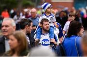 12 August 2018; Ethan, top, and Mark McSkeane, from Monaghan Town prior to the GAA Football All-Ireland Senior Championship semi-final match between Monaghan and Tyrone at Croke Park in Dublin. Photo by Stephen McCarthy/Sportsfile
