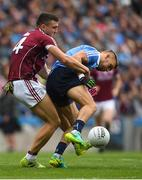 11 August 2018; Jonny Cooper of Dublin in action against Damien Comer of Galway during the GAA Football All-Ireland Senior Championship semi-final match between Dublin and Galway at Croke Park in Dublin. Photo by Piaras Ó Mídheach/Sportsfile