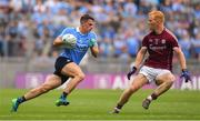 11 August 2018; Brian Howard of Dublin in action against Declan Kyne of Galway during the GAA Football All-Ireland Senior Championship semi-final match between Dublin and Galway at Croke Park in Dublin.  Photo by Brendan Moran/Sportsfile