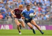 11 August 2018; Brian Howard of Dublin in action against Peter Cooke of Galway during the GAA Football All-Ireland Senior Championship semi-final match between Dublin and Galway at Croke Park in Dublin.  Photo by Brendan Moran/Sportsfile