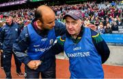 11 August 2018; Galway manager Donal Ó Fátharta, left, shakes hands with Meath manager Joe Treanor after the Electric Ireland GAA Football All-Ireland Minor Championship semi-final match between Galway and Meath at Croke Park in Dublin. Photo by Brendan Moran/Sportsfile