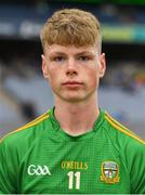 11 August 2018; Matthew Costello of Meath prior to the Electric Ireland GAA Football All-Ireland Minor Championship semi-final match between Galway and Meath at Croke Park in Dublin. Photo by Brendan Moran/Sportsfile