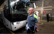 12 August 2018; Monaghan manager Malachy O'Rourke arrives prior to the GAA Football All-Ireland Senior Championship semi-final match between Monaghan and Tyrone at Croke Park in Dublin. Photo by Stephen McCarthy/Sportsfile