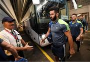 12 August 2018; Neil McAdam and Monaghan team-mates arrive prior to the GAA Football All-Ireland Senior Championship semi-final match between Monaghan and Tyrone at Croke Park in Dublin. Photo by Stephen McCarthy/Sportsfile