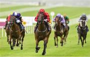 12 August 2018; Optionality, with Gary Carroll up, on their way to winning the Anglesey Lodge Equine Hospital Irish EBF Maiden during Phoenix Stakes Day at the Curragh Racecourse in Kildare. Photo by Matt Browne/Sportsfile