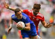 12 August 2018; Conor McManus of Monaghan in action against Padraig Hampsey of Tyrone during the GAA Football All-Ireland Senior Championship semi-final match between Monaghan and Tyrone at Croke Park in Dublin. Photo by Brendan Moran/Sportsfile