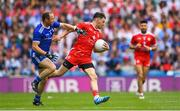 12 August 2018; Mattie Donnelly of Tyrone is tackled by Vinny Corey of Monaghan during the GAA Football All-Ireland Senior Championship semi-final match between Monaghan and Tyrone at Croke Park in Dublin. Photo by Ramsey Cardy/Sportsfile