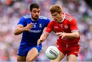 12 August 2018; Peter Harte of Tyrone in action against Drew Wylie of Monaghan during the GAA Football All-Ireland Senior Championship semi-final match between Monaghan and Tyrone at Croke Park in Dublin. Photo by Stephen McCarthy/Sportsfile