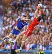 12 August 2018; Colm Cavanagh of Tyrone in action against Karl O'Connell of Monaghan during the GAA Football All-Ireland Senior Championship semi-final match between Monaghan and Tyrone at Croke Park in Dublin. Photo by Ramsey Cardy/Sportsfile