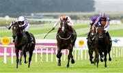 12 August 2018; Advertise, centre, with Frankie Dettori up, on their way to winning The Keeneland Phoenix Stakes from second place So Perfect, left, with Seamie Heffernan up, and third place The Irish Rover, right, with Donnacha O'Brien up, during Phoenix Stakes Day at the Curragh Races in Curragh, Kildare.  Photo by Matt Browne/Sportsfile