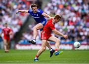 12 August 2018; Peter Harte of Tyrone in action against Fintan Kelly of Monaghan during the GAA Football All-Ireland Senior Championship semi-final match between Monaghan and Tyrone at Croke Park in Dublin. Photo by Stephen McCarthy/Sportsfile