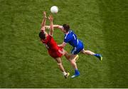 12 August 2018; Colm Cavanagh of Tyrone in action against Karl O'Connell of Monaghan during the GAA Football All-Ireland Senior Championship Semi-Final match between Monaghan and Tyrone at Croke Park, in Dublin. Photo by Daire Brennan/Sportsfile