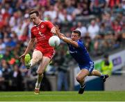12 August 2018; Colm Cavanagh of Tyrone in action against Ryan Wylie of Monaghan during the GAA Football All-Ireland Senior Championship semi-final match between Monaghan and Tyrone at Croke Park in Dublin. Photo by Ray McManus/Sportsfile