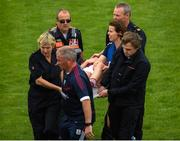 12 August 2018; Ailbhe Davoren of Galway is stretchered off after falling awkwardly during the TG4 All-Ireland Ladies Football Senior Championship quarter-final match between Galway and Mayo at Dr. Hyde Park, in Roscommon. Photo by Eóin Noonan/Sportsfile