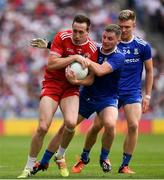 12 August 2018; Colm Cavanagh of Tyrone in action against Dermot Malone of Monaghan during the GAA Football All-Ireland Senior Championship semi-final match between Monaghan and Tyrone at Croke Park in Dublin. Photo by Ray McManus/Sportsfile
