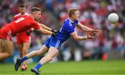 12 August 2018; Colin Walshe of Monaghan is tackled by Niall Sludden of Tyrone during the GAA Football All-Ireland Senior Championship semi-final match between Monaghan and Tyrone at Croke Park in Dublin. Photo by Ramsey Cardy/Sportsfile
